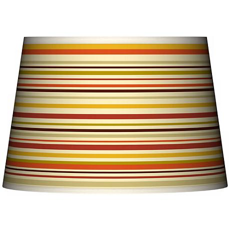 Stacy Garcia Lemongrass Stripe Tapered Shade 13x16x10.5 (Spider)