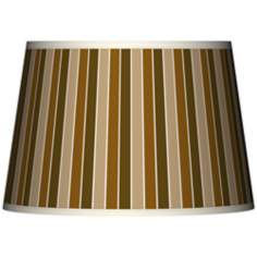 Umber Stripes Tapered Lamp Shade 13x16x10.5 (Spider)