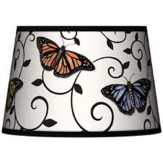 Butterfly Scroll Tapered Lamp Shade 13x16x10.5 (Spider)