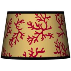 Crimson Coral Tapered Lamp Shade 13x16x10.5 (Spider)