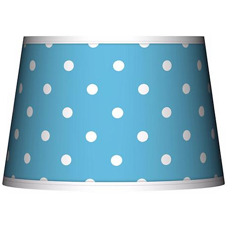 Mini Dots Aqua Tapered Lamp Shade 13x16x10.5 (Spider)
