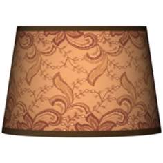 Sepia Lace Tapered Lamp Shade 13x16x10.5 (Spider)