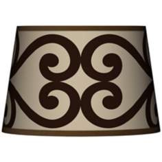 Cambria Scroll Tapered Lamp Shade 13x16x10.5 (Spider)