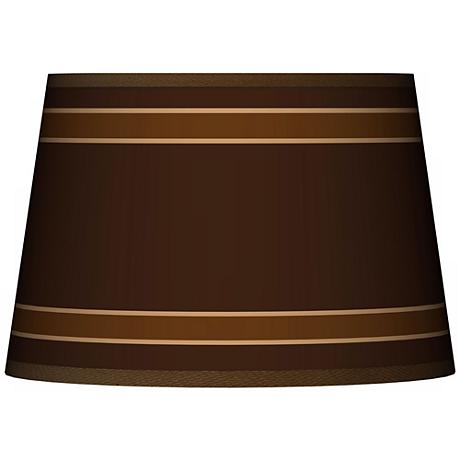Saratoga Stripe Tapered Lamp Shade 13x16x10.5 (Spider)