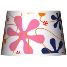 Retro Pink Tapered Lamp Shade 13x16x10.5 (Spider)