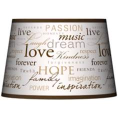 Positivity Tapered Lamp Shade 13x16x10.5 (Spider)