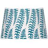 Stacy Garcia Fancy Fern Peacock Tapered Shade 13x16x10.5 (Spider)