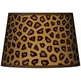 Safari Cheetah Tapered Lamp Shade 13x16x10.5 (Spider)