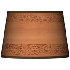 Paisley Trim Giclee Tapered Lamp Shade 13x16x10.5 (Spider)