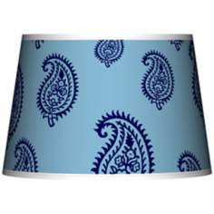 Paisley Rain Giclee Tapered Lamp Shade 13x16x10.5 (Spider)