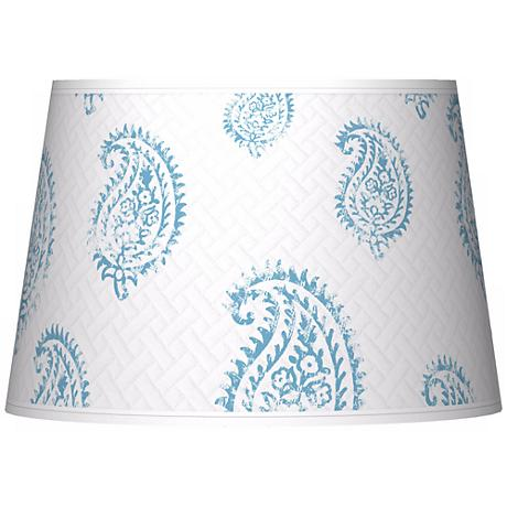 Paisley Snow Giclee Tapered Lamp Shade 13x16x10.5 (Spider)