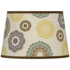 Ornaments Linen Giclee Tapered Lamp Shade 13x16x10.5 (Spider)