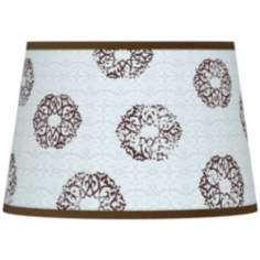 Weathered Medallion Giclee Tapered Lamp Shade 13x16x10.5 (Spider)