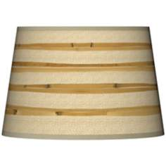 Bamboo Wrap Giclee Tapered Lamp Shade 13x16x10.5 (Spider)
