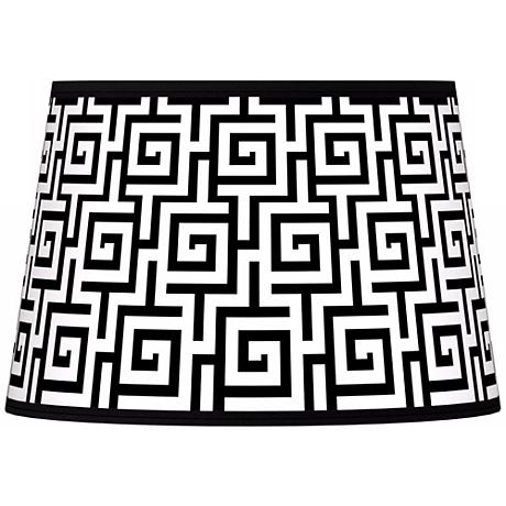 Greek Key Giclee Tapered Lamp Shade 13x16x10.5 (Spider)