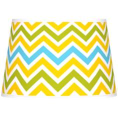 Citrus Zig Zag Giclee Tapered Lamp Shade 13x16x10.5 (Spider)