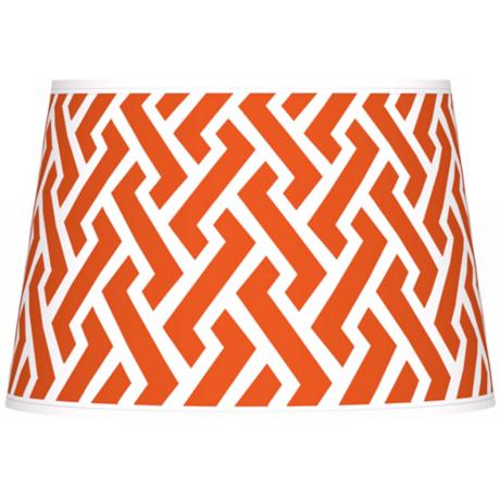 Red Brick Weave Giclee Tapered Lamp Shade 13x16x10.5 (Spider)