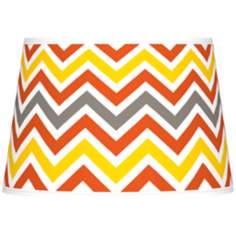 Flame Zig Zag Giclee Tapered Lamp Shade 13x16x10.5 (Spider)