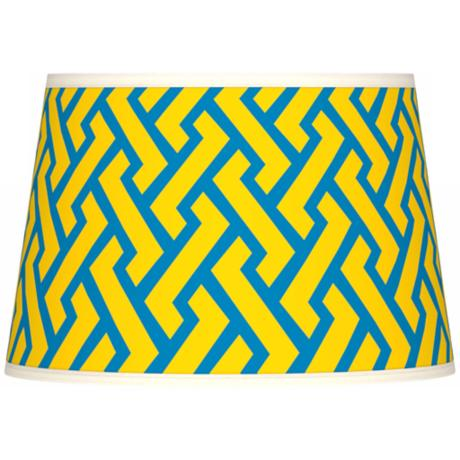 Yellow Brick Weave Giclee Tapered Lamp Shade 13x16x10.5 (Spider)