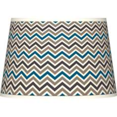 Zig Zag Tapered Lamp Shade 13x16x10.5 (Spider)