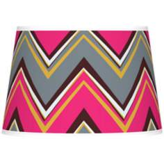 Stacy Garcia Chevron Pride Pink Tapered Shade 13x16x10.5 (Spider)