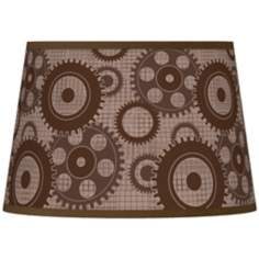 Industrial Gears Tapered Lamp Shade 13x16x10.5 (Spider)