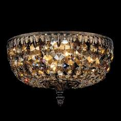 "Schonbek Rialto Collection 10"" Wide Crystal Ceiling Light"