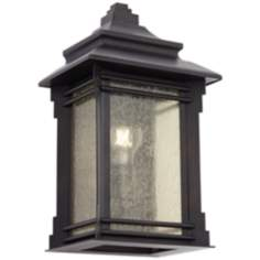 Franklin Iron Works Hickory Point Outdoor Pocket Wall Light