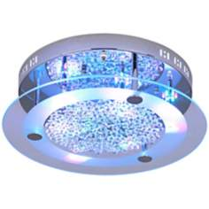 Possini Euro LED Light Show Floating Jewels Ceiling Fixture