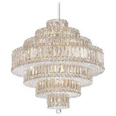 "Schonbek Plaza Collection 24 1/2"" Crystal Pendant Chandelier"