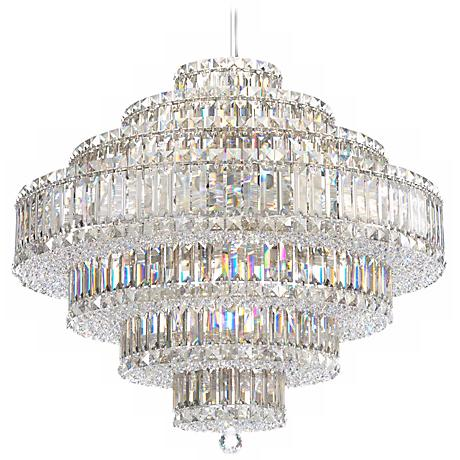 "Schonbek Plaza Collection 27 1/2"" Crystal Pendant Chandelier"