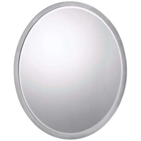 "Quoizel SoHo 24"" High Brushed Nickel Finish Wall Mirror"