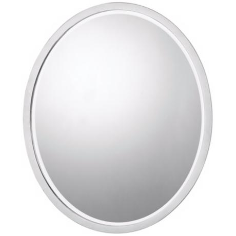 "Quoizel SoHo 24"" High Chrome Finish Wall Mirror"