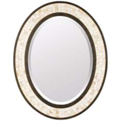 "Quoizel Monterey Mosaic 30"" High Oval Wall Mirror"