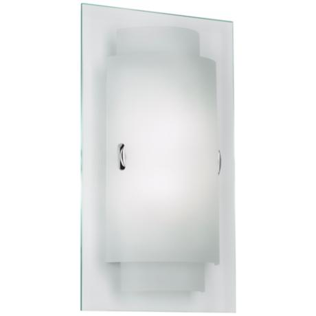 "Duplex 8 3/4"" Wide Frosted Glass Wall Sconce"