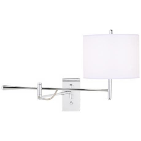 Contemporary Chrome Boom Plug-In Swing Arm Wall Light
