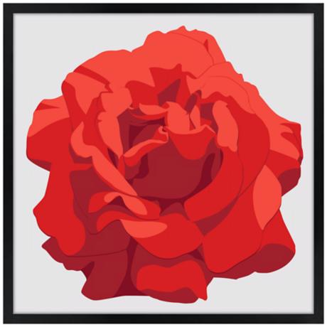 Perfect Red Rose Wall Art