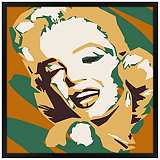 "Classic Blonde II 26"" Square Black Giclee Wall Art"