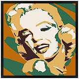"Classic Blonde II 31"" Square Black Giclee Wall Art"
