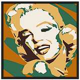 "Classic Blonde II 37"" Square Black Giclee Wall Art"