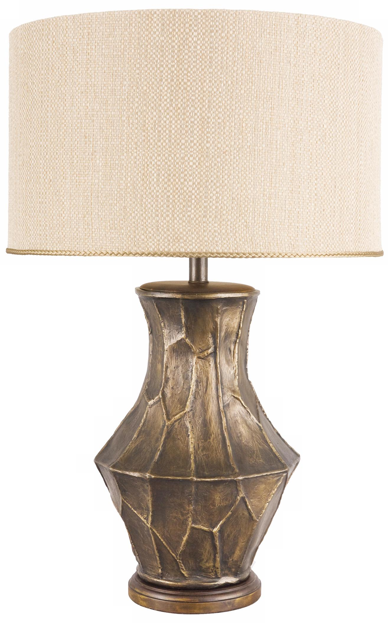 Frederick Cooper Fractura Bronze Table Lamp (N9479)