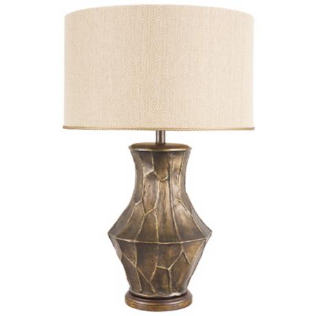 Frederick Cooper Fractura Bronze Table Lamp