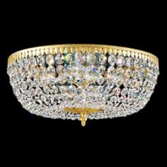 "Schonbek Rialto Collection 18"" Wide Crystal Ceiling Light"