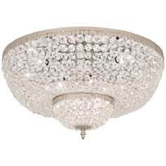 "Schonbek Rialto Collection 24"" Wide Crystal Ceiling Light"