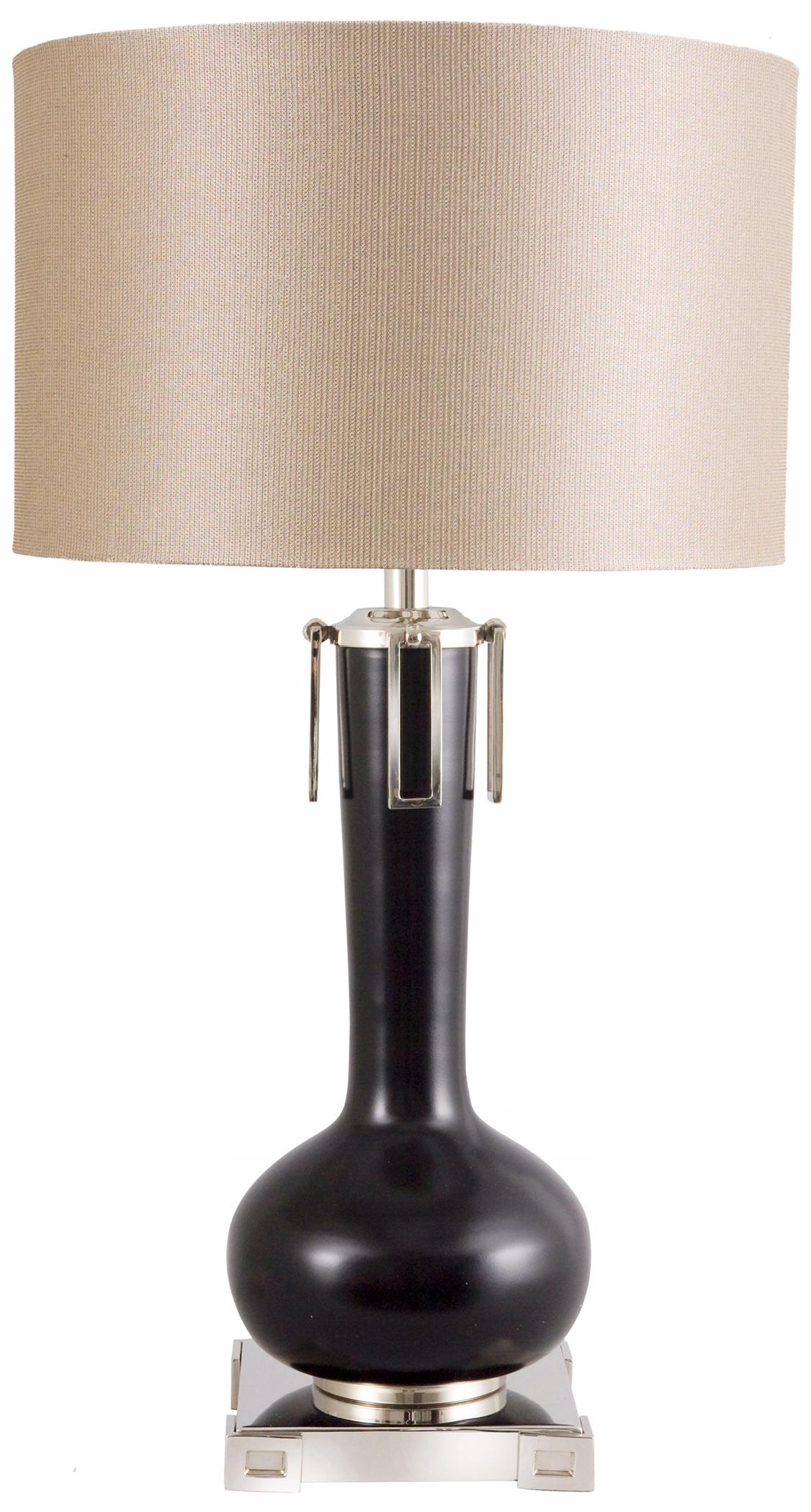 Frederick Cooper Black Eden Table Lamp (N9853)