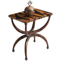 Heritage Tiger Penn Shell Accent Table