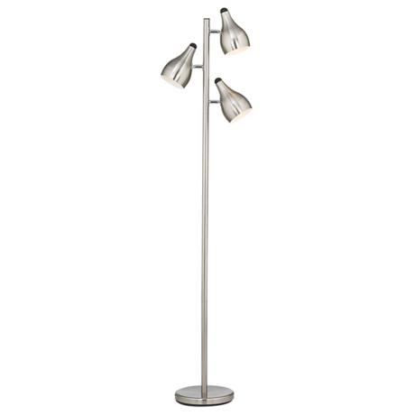 Trac Tree Brushed Steel 3-Light Floor Lamp