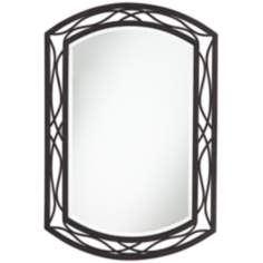 "Woven Bronze Metal 35 1/2"" High Wall Mirror"