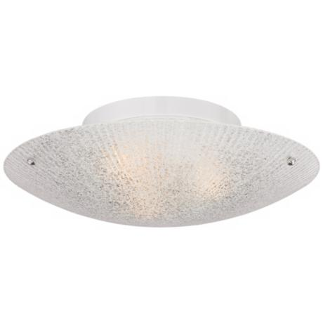 "White Piastra Glass 13 3/4"" Wide Ceiling Light Fixture"