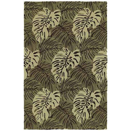 Home and Porch Ossabaw Green Area Rug